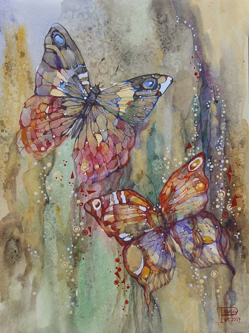 бабочки рисунок